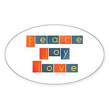 PEACE, JOY, LOVE Decal