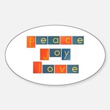 PEACE, JOY, LOVE Decal