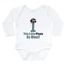 Pirate 1st Birthday One Yr Long Sleeve Infant Body
