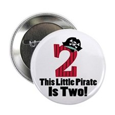 "2nd Birthday Pirate 2.25"" Button"