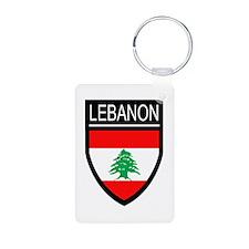 Lebanon Flag Patch Keychains