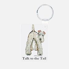 Wire Fox Terrier Tail WFT Keychains