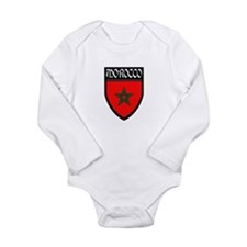 Morocco Flag Patch Long Sleeve Infant Bodysuit