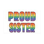 GLBT Rainbow Proud Sister 38.5 x 24.5 Wall Peel