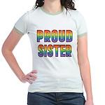 GLBT Rainbow Proud Sister Jr. Ringer T-Shirt