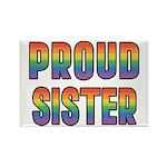 GLBT Rainbow Proud Sister Rectangle Magnet