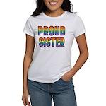 GLBT Rainbow Proud Sister Women's T-Shirt