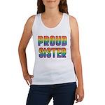 GLBT Rainbow Proud Sister Women's Tank Top