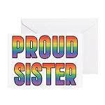 GLBT Rainbow Proud Sister Greeting Card