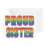 GLBT Rainbow Proud Sister Greeting Cards (Pk of 10