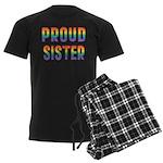 GLBT Rainbow Proud Sister Men's Dark Pajamas
