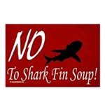 no shark fin soup Postcards (Package of 8)