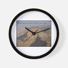 Masada Shall Not Fall Again Wall Clock