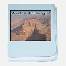 Masada Shall Not Fall Again baby blanket