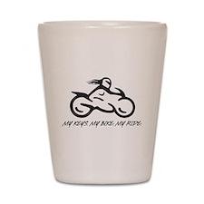 My Keys. My Bike. My Ride. Shot Glass