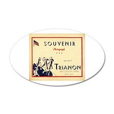 Trianon Ballroom Cafe 22x14 Oval Wall Peel