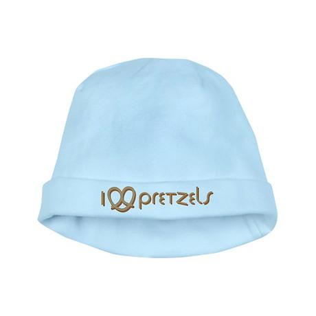 I Love Pretzels baby hat