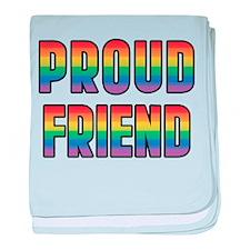 GLBT Rainbow Proud Friend baby blanket