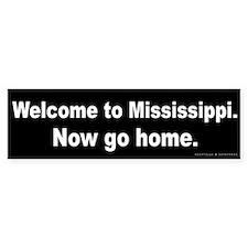 Welcome/Mississippi Bumper Sticker