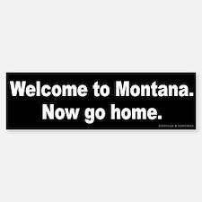 Welcome/Montana Bumper Bumper Sticker