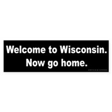 Welcome/Wisconsin Bumper Sticker