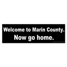 Welcome/Marin County Bumper Sticker