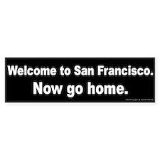 Welcome/San Francisco Bumper Sticker