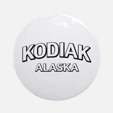 Kodiak Alaska Ornament (Round)