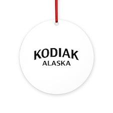 Kodiak Alaska Ornament (Round)