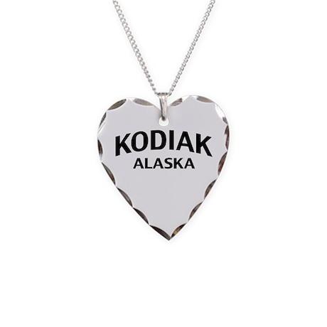 Kodiak Alaska Necklace Heart Charm