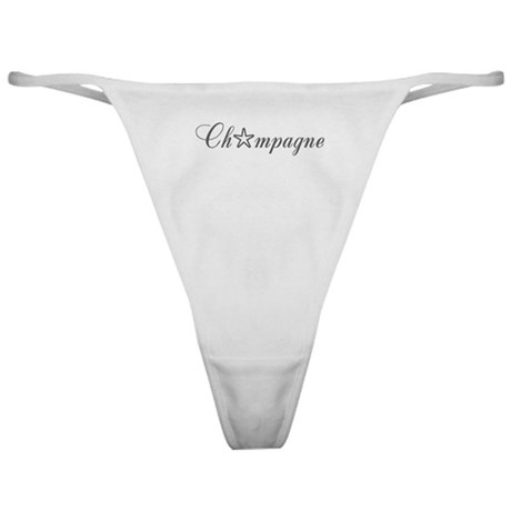 Champagne Starlet Classic Thong