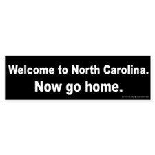 Welcome/North Carolina Bumper Sticker