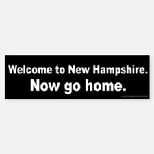 Welcome/New Hampshire Bumper Bumper Sticker