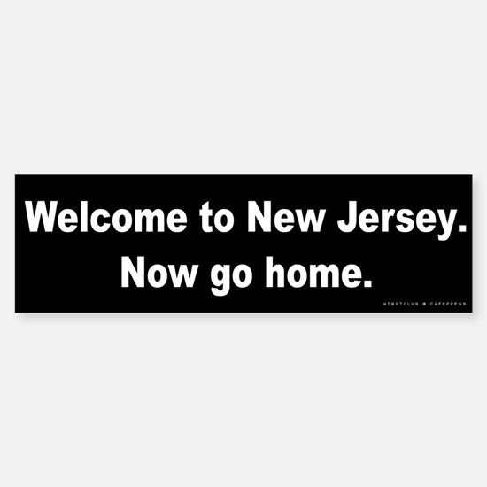 Welcome/New Jersey Sticker (Bumper)
