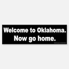 Welcome/Oklahoma Bumper Bumper Sticker