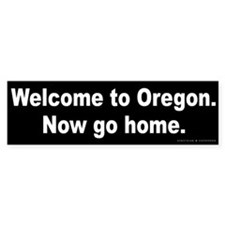 Welcome/Oregon Bumper Bumper Sticker