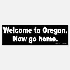 Welcome/Oregon Bumper Bumper Sticker
