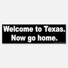 Welcome/Texas Bumper Bumper Sticker