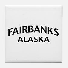 Fairbanks Alaska Tile Coaster