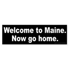 Welcome/Maine Bumper Sticker