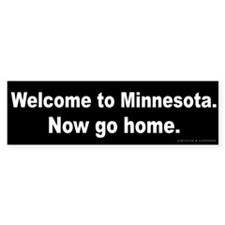 Welcome/Minnesota Bumper Sticker
