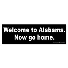 Welcome to Alabama Bumper Sticker