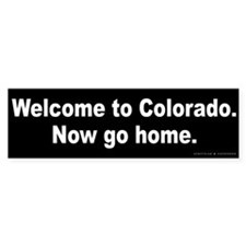 Welcome to Colorado Bumper Sticker