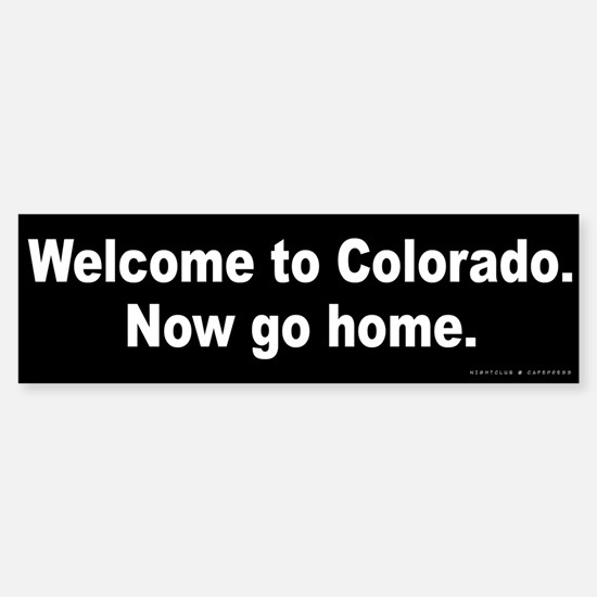 Welcome to Colorado Sticker (Bumper)