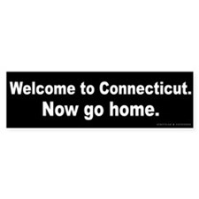 Welcome to Connecticut Bumper Sticker
