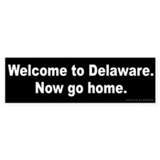 Welcome to Delaware Bumper Sticker