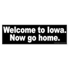Welcome to Iowa Bumper Sticker