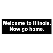 Welcome to Illinois Bumper Sticker