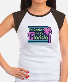 I'd Rather Be In Florida Women's Cap Sleeve T-Shir