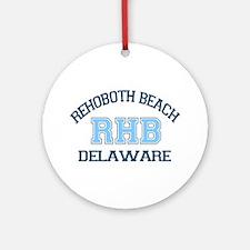 Rehoboth Beach DE - Varsity Design Ornament (Round